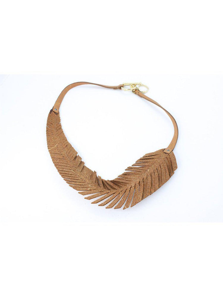 NECKLACE - Monica Feather Leather-Velez-Default-Shirlanka-Wynwood-Miami