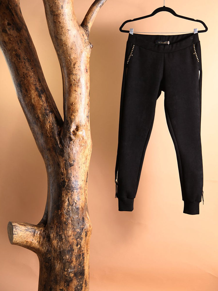 PANT- Carmen Black with Side Zippers - Size S-La Tucha-Default-Shirlanka-Wynwood-Miami