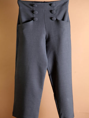 PANT - Culotte Pants with Front Buttons-PADOVA-Shirlanka-Wynwood-Miami