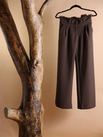 PANT - Brown diaper style with palazzo boot - Size|6-PADOVA-Default-Shirlanka-Wynwood-Miami