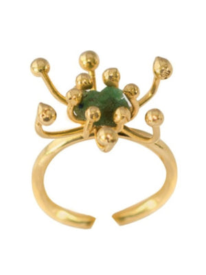 RING - Pistilo Emerald Gold-Tantra-Default-Shirlanka-Wynwood-Miami