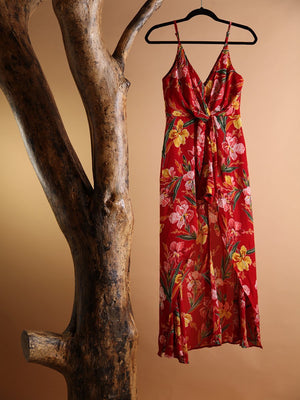ROMPER - Lena Floral High Low red - Size|S-Emerging Designers-Default-Shirlanka-Wynwood-Miami