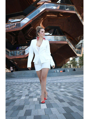 Load image into Gallery viewer, SET - Single Button Blazer with Seamed Solid Short-venti6-L-Shirlanka-Wynwood-Miami