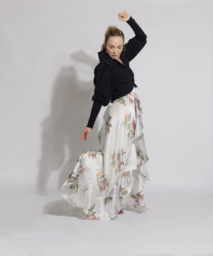 SKIRT - Regina Long Tail Ruffle - Size S-Andrea Ayala-Default-Shirlanka-Wynwood-Miami