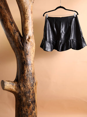 Load image into Gallery viewer, SKIRT - Emily Synthetic Leather black - Size|M-Emerging Designers-Default-Shirlanka-Wynwood-Miami