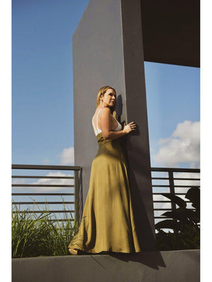 Load image into Gallery viewer, SKIRT - Olive Safari Extreme High Rise - Size|10-PADOVA-Default-Shirlanka-Wynwood-Miami