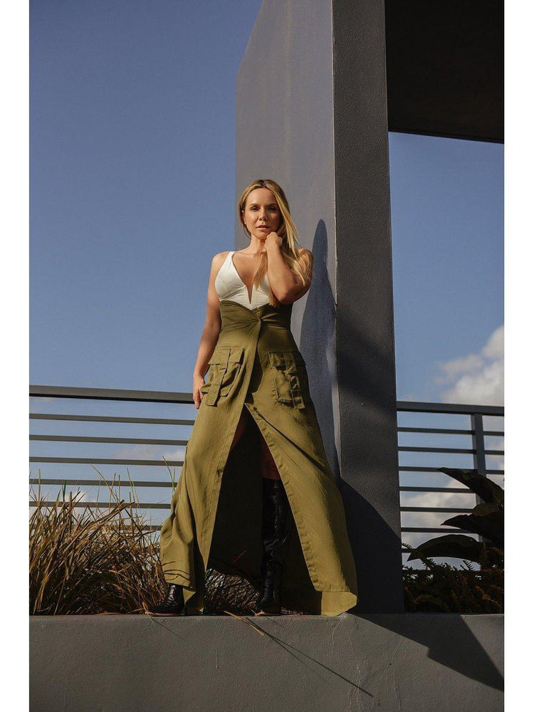 SKIRT - Olive Safari Extreme High Rise - Size|10-PADOVA-Default-Shirlanka-Wynwood-Miami