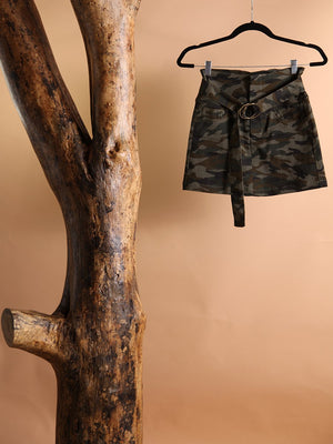 SKIRT - Matamoro Camo Belted Denim-Signature8-S-Shirlanka-Wynwood-Miami