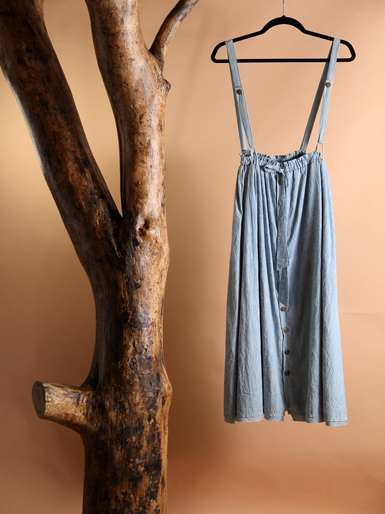 Load image into Gallery viewer, SKIRT - Melissa Denim Overall Maxi-Storia-L-Shirlanka-Wynwood-Miami