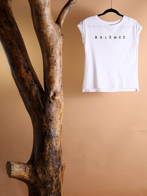 Load image into Gallery viewer, T-SHIRT - Balance White Size XS|S-Quote Me-Default-Shirlanka-Wynwood-Miami