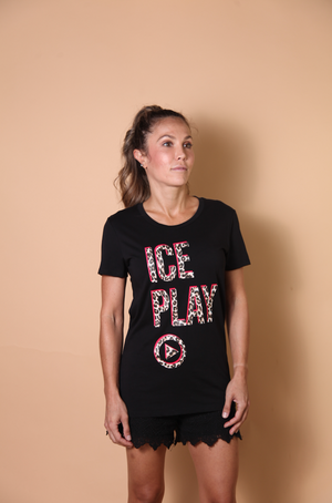 Load image into Gallery viewer, T-SHIRT - Black Ice Play - Size S-Iceberg-Default-Shirlanka-Wynwood-Miami