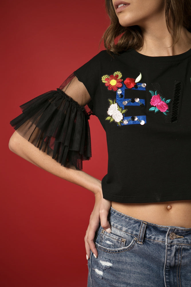 T-SHIRT - Kaia Applique EVE-Emerging Designers-Shirlanka-Wynwood-Miami