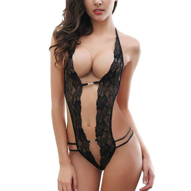 Erotic Lace One-Piece Baby Doll - Nu String