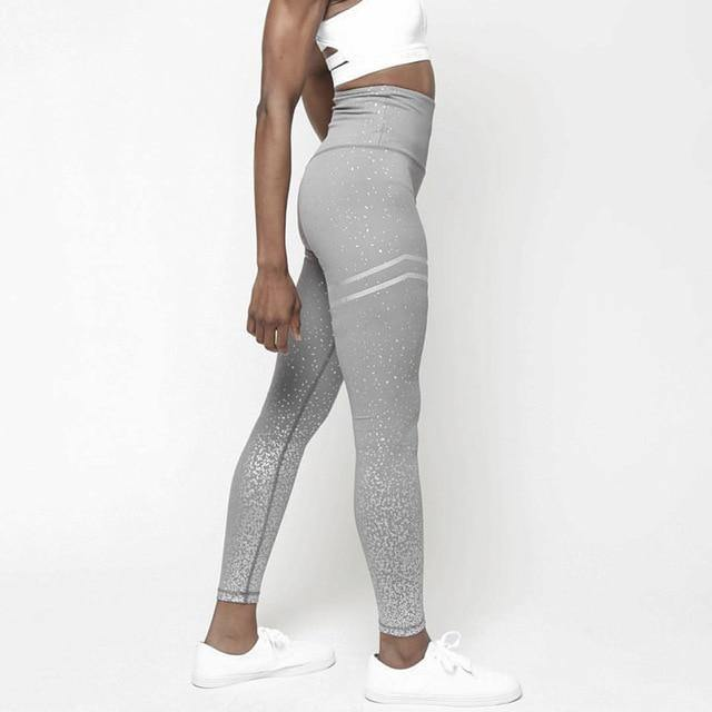 Breathable Patchwork Fitness Leggings - Nu String