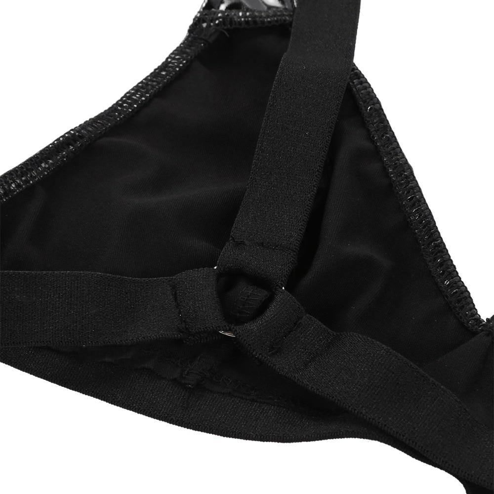 Women Leather Sexy Lingerie - Nu String