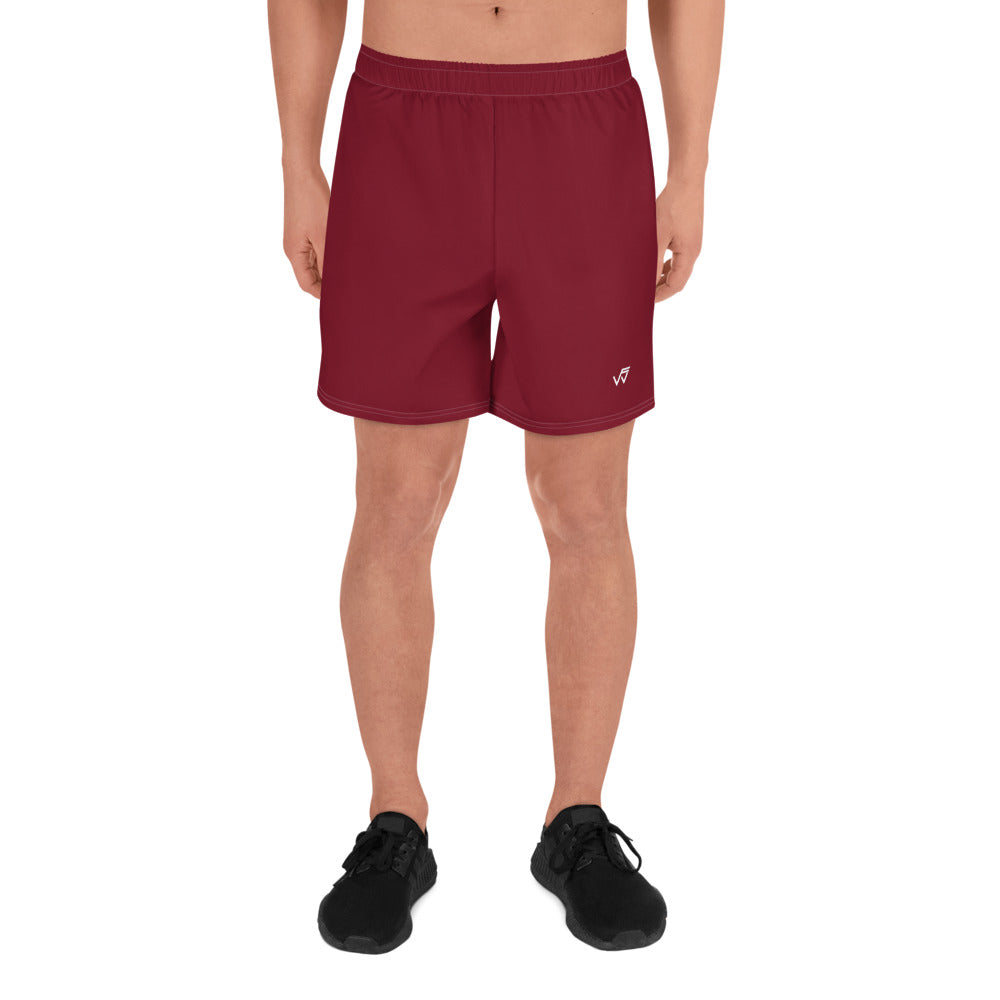 Men's Athletic Gym Shorts - Red