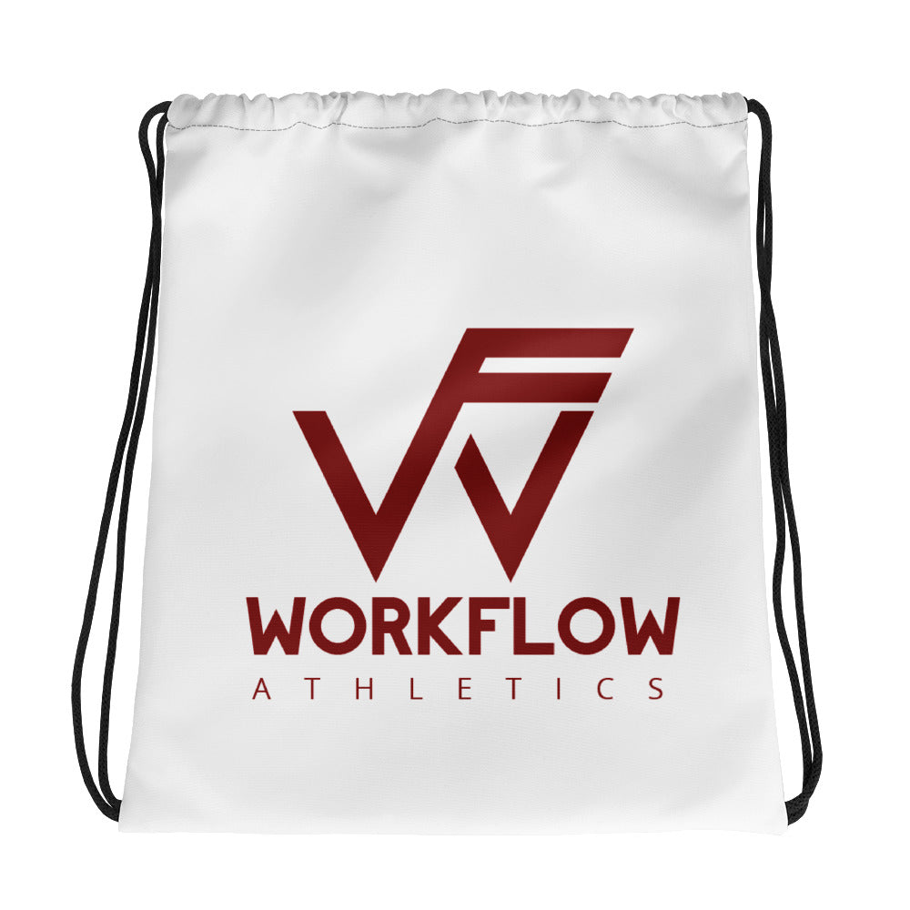 Drawstring Sport Bag - White