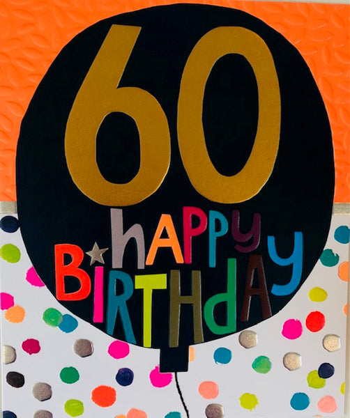 GREETING CARD HUNKY DORY BIRTHDAY 60