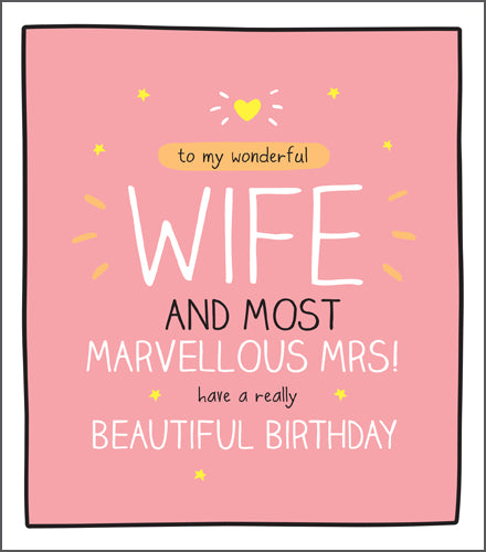 GREETING CARD BIRTHDAY WIFE