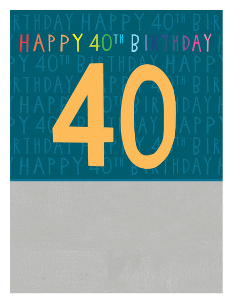GREETING CARD JAMBOREE AGE 40