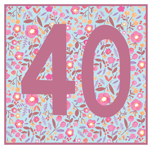 GREETING CARD JUMBO AGE 40