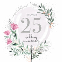 GREETING CARD SILVER ANNIVERSARY