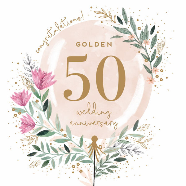 GREETING CARD GOLDEN ANNIVERSARY