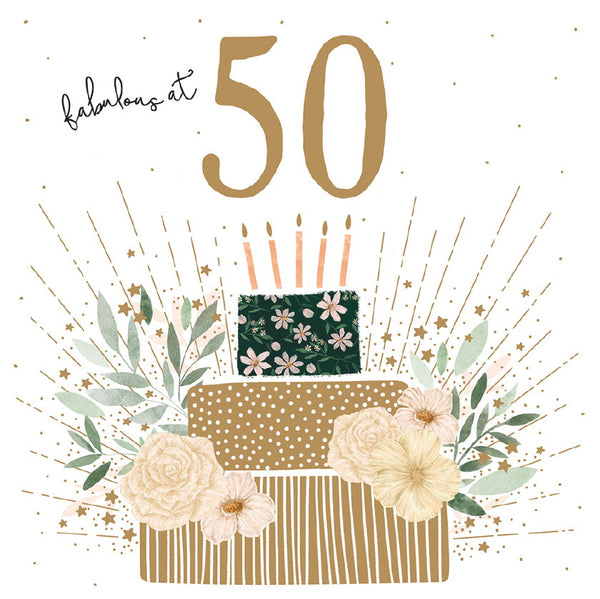 GREETING CARD BIRTHDAY AGE 50