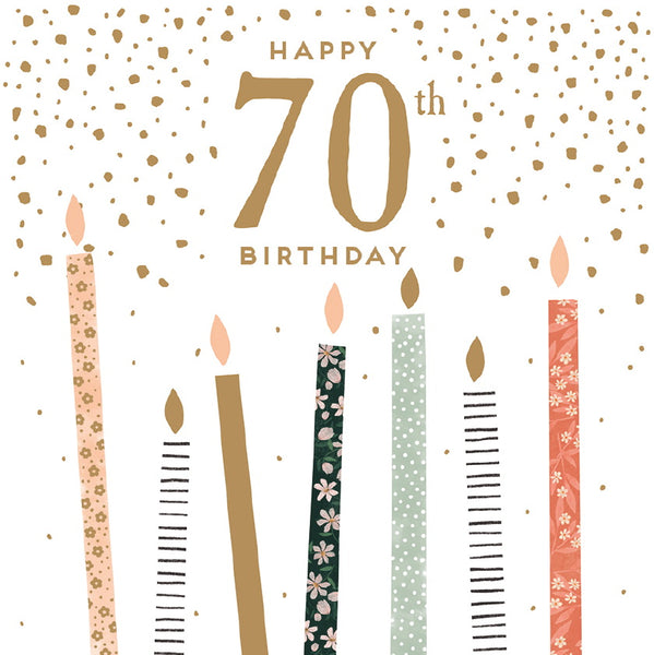 GREETING CARD BIRTHDAY AGE 70
