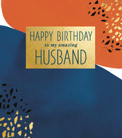 GREETING CARD BIRTHDAY HUSBAND
