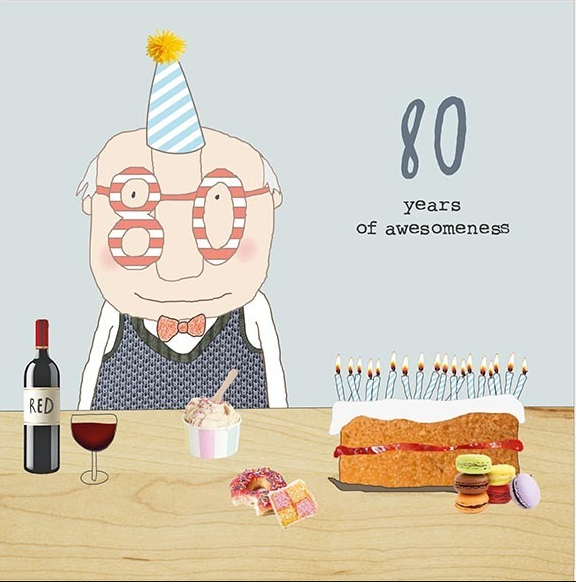 GREETING CARD BIRTHDAY 80