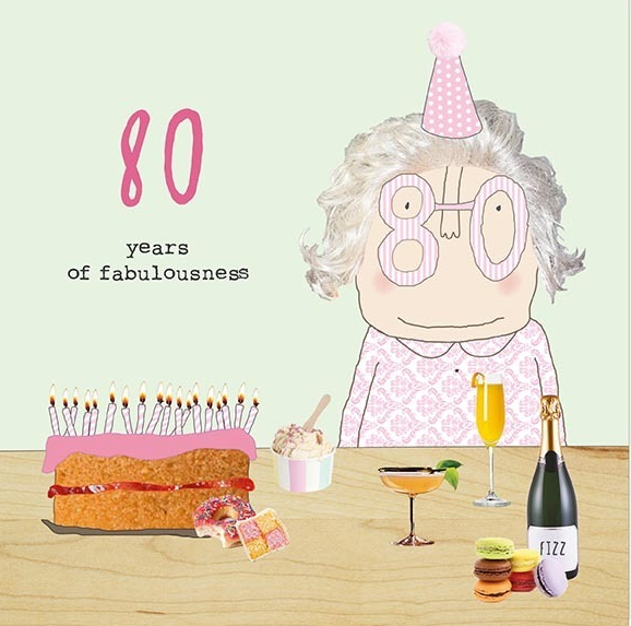 GREETING CARD BIRTHDAY AGE 80