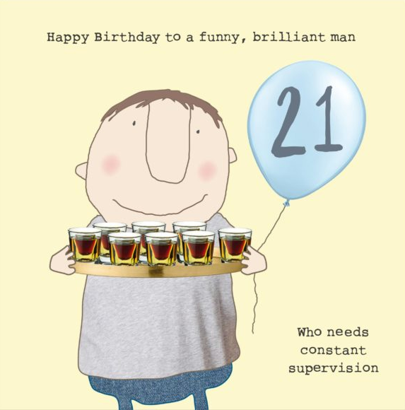 GREETING CARD BIRTHDAY AGE 21