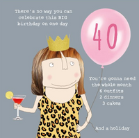 GREETING CARD BIRTHDAY AGE 40