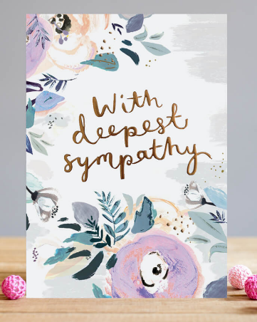 GREETING CARD SYMPATHY