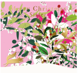 Merry Christmas Sister Greeting Card