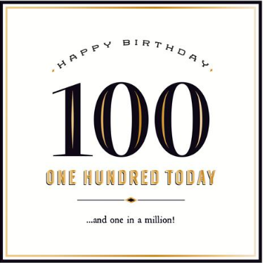 GREETING CARD BIRTHDAY 100