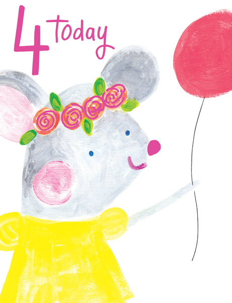 GREETING CARD ZOO LANE AGE 4 GIRL