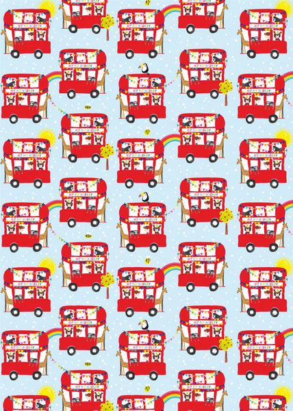 FLAT WRAP SHEET RED BUSES