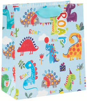 GIFT BAG MEDIUM JNRS DINOSAUR ROAR