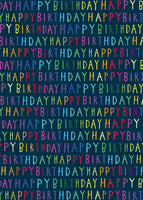 ROLL WRAP 4M H BIRTHDAY NEON TEXT