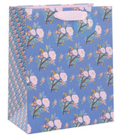 GIFT BAG LARGE DYMENT FLORAL BLUE
