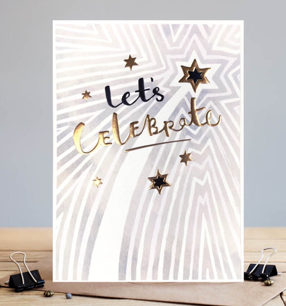 GREETING CARD LETS CELEBRATE