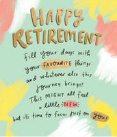 GREETING CARD RETIREMENT