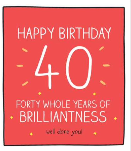 GREETING CARD AGE 40