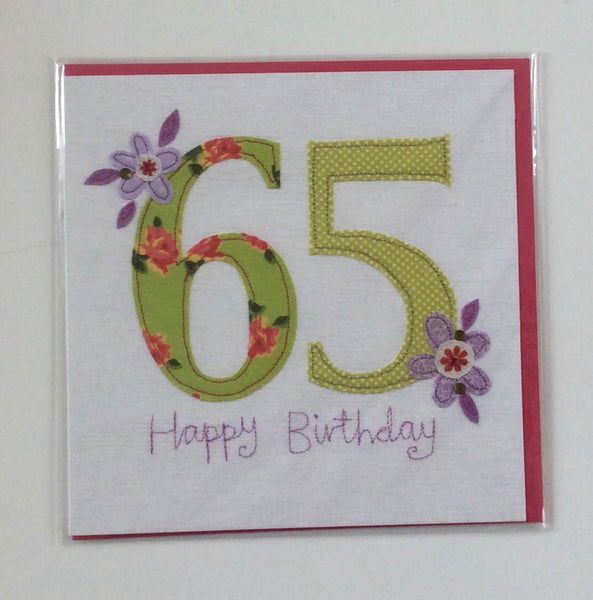 GREETING CARD AGE 65