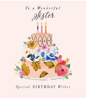 GREETING CARD BIRTHDAY SISTER