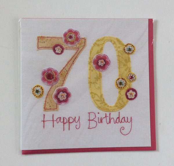 GREETING CARD AGE 70 F