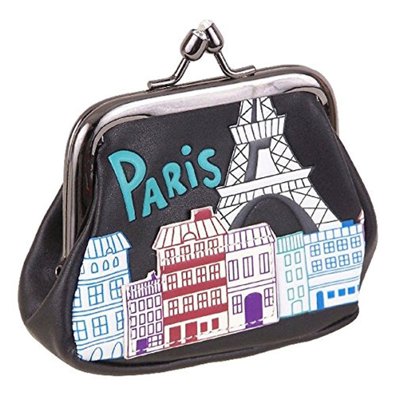 Annanova Black Paris Coin Purse - Anna Nova at Destination Fashion
