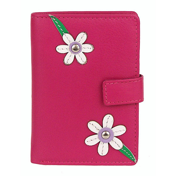 Leather Blossom Credit Card Holder - Mala Leather at Destination Fashion
